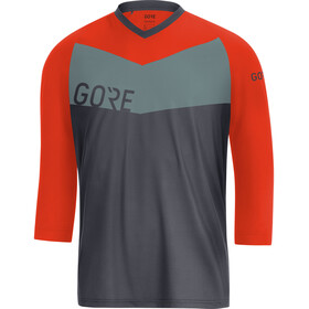 GORE WEAR C5 All Mountain - Maillot manga corta Hombre - gris/naranja